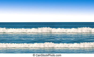 óceán lenget, kék