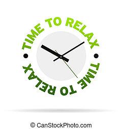 óra, idő, kipiheni magát