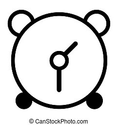 óra, ijedtség, háttér., vektor, fekete, fehér, ikon