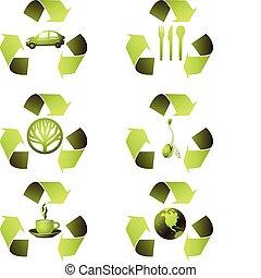 ökológiai, állhatatos, ikon