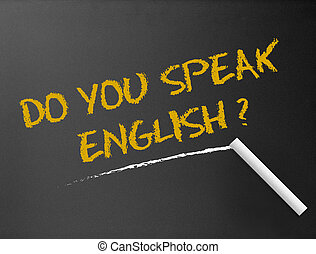 ön, beszél, -, chalkboard, english?