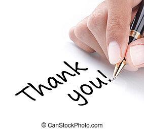 ön, kéz, hálát ad, írás