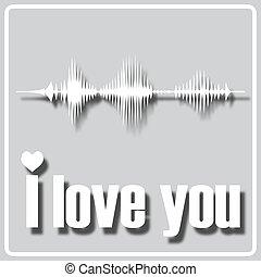ön, lenget, hangzik, szeret, szürke, ikon