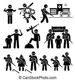 öngyilkosság, rémuralom, bombázó, terrorista