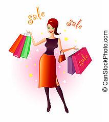 öröm, bevásárlás