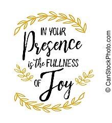 öröm, -e, telítettség, jelenlét