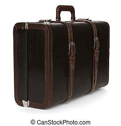 öreg, bőrönd