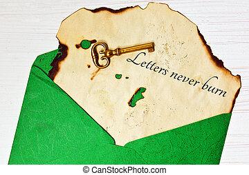 öreg, boríték, levél