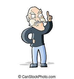 öreg, döntések, fogad fogad, karikatúra, ember
