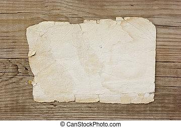 öreg, deszkák, fából való, szüret, dolgozat, oldal