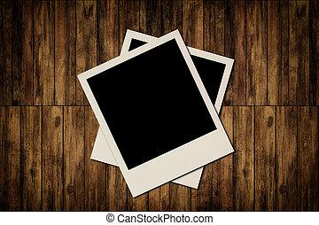 öreg, fából való, fénykép, háttér, tiszta, keret, pillanat
