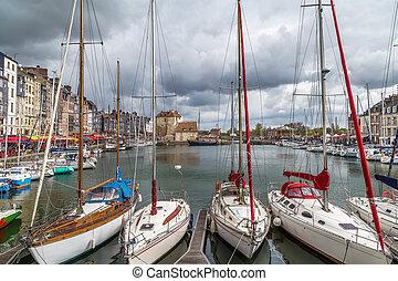 öreg port, franciaország, honfleur