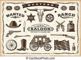 öreg, szüret, western, állhatatos