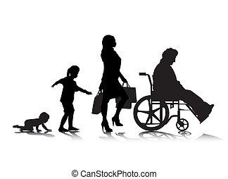 öregedő, emberi, 6