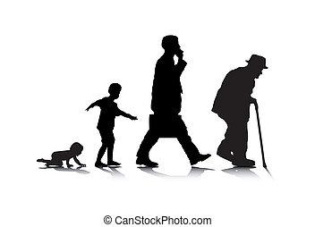 öregedő, emberi