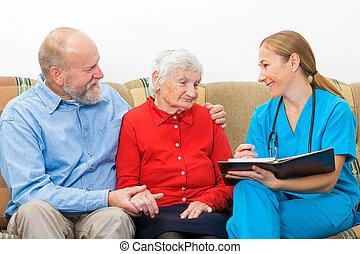 öregedő törődik