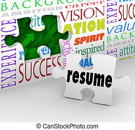 összefoglal, nyílás, élmény, munka, helyzet, interjú, új, tölt