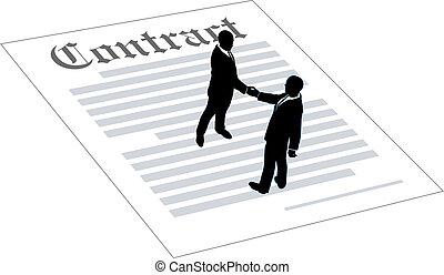 összehúz, emberek, egyezmény, ügy cégtábla