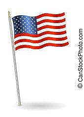 összehangol megállapít lobogó, háttér, fehér, amerika