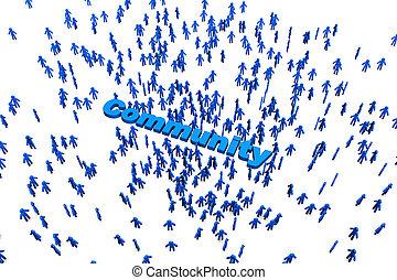 összejövetel, ábra, közösség, 3