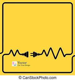 összeköttetés, fogalom, electricity., elkülönítés