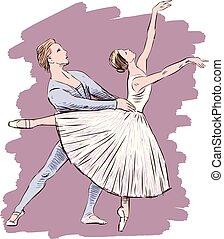 összekapcsol táncol, balett