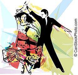 összekapcsol táncol, latino