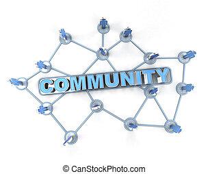 összekapcsolt, közösség