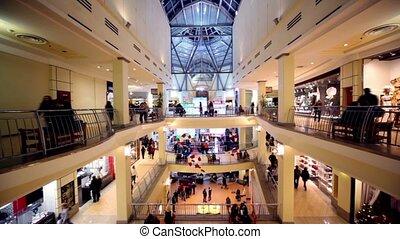 összetett, középcsatár, ül, emberek, jár, más, elhallgattat, mentén, bírói szék, boutiques, kereskedelem