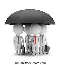 övé, esernyő, emberek, -, menedzser, befog, kicsi, 3