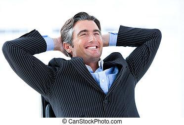 övé, körülbelül, siker, hím, nevető, végrehajtó, gondolkodó