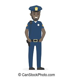 övé, rendőrség, kézbesít, fekete, tiszt, folytatódik, boldog, öv