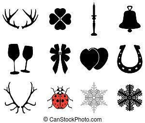 újév, karácsony, ikonok