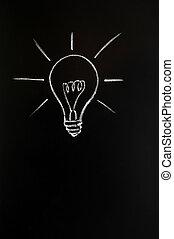 újítás, gumó, fény