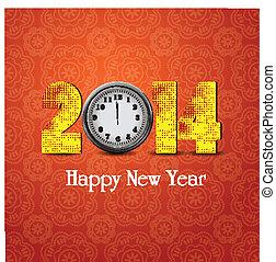 új, óra, boldog, év