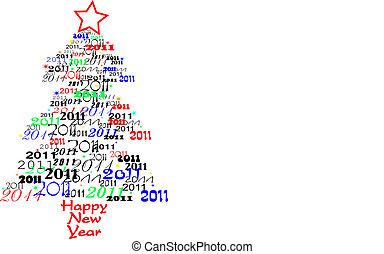 új, 2011, fa, év