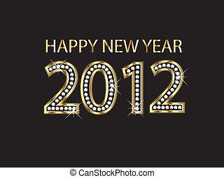 új, 2012, boldog, év