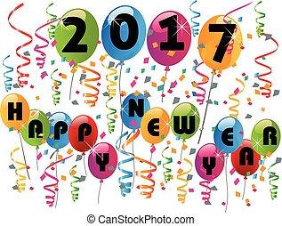új, 2017, boldog, év