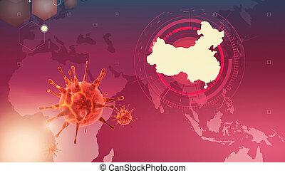 új, 2019-ncov., ábra, coronavirus, 3