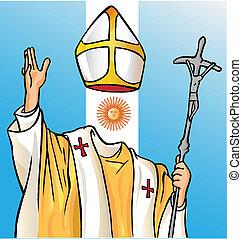 új, argentina lobogó, pápa