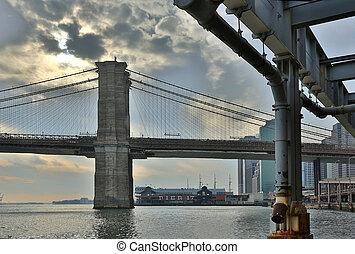 új, brooklyn, york, bridzs