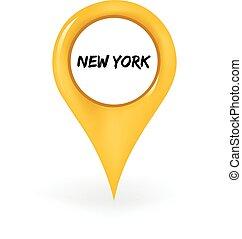 új, elhelyezés, york