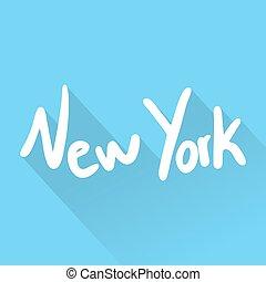 új, jelkép, york, kedves