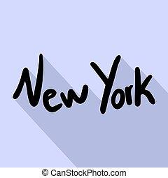 új, jelkép, york