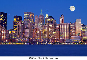 új, láthatár, york, th, város