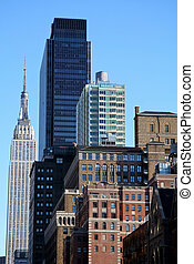 új, láthatár, york, város