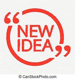 új, tervezés, gondolat, ábra