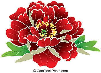 új, virág, kínai, év
