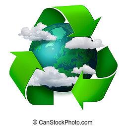 újrafelhasználás, klíma, fogalom, cserél