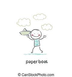 újság hajózik